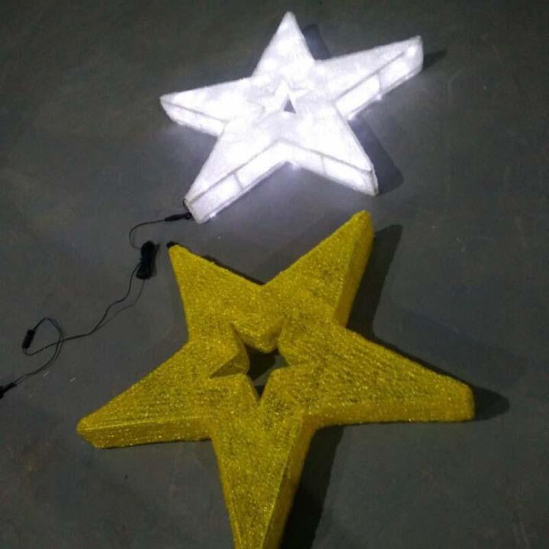 LED-tähti joulukoristeet lämpimät valkoiset LED-valot tähdet