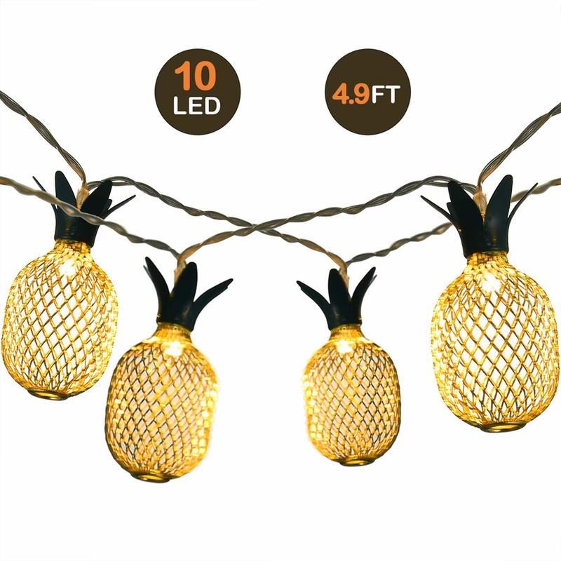 LED 灯 串 10LED Lämmin valkoinen ananasmerkkivalo