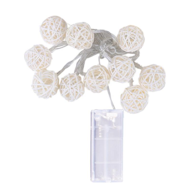 10 LED-merkkivaloa 1.2M Fairytale garland -käyttöinen ulkona Lämmin valkoinen Xmas-festivaalin häätjuhlissa