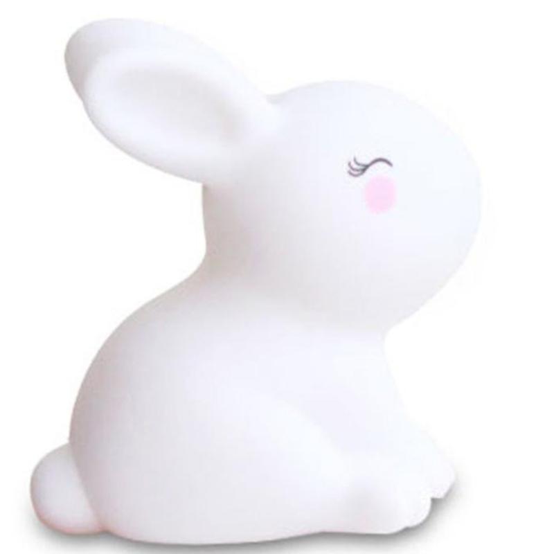 Pidä liima pieni valkoinen kani yö lampun lelu koristelu
