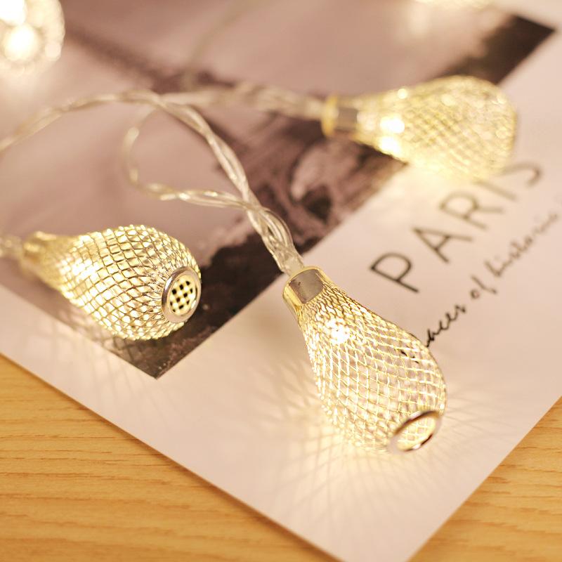 10/20/40 LEDit Merkkivalot, akkukäyttöiset joulun keiju valot, ontto veden pudotusvalaisin lampun häätjuhlaan koristeluun Koko: Golden 40 LED