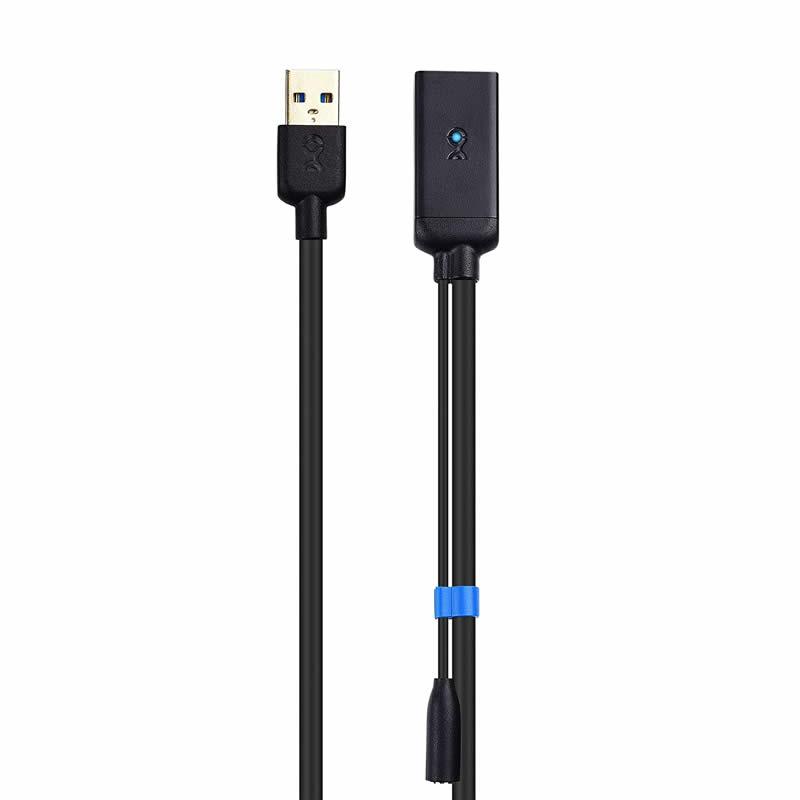 USB 3.0-jatkojohto uros-naaras-signaalivahvistimen toistinjohto 5 V / 2A-virtalähteellä