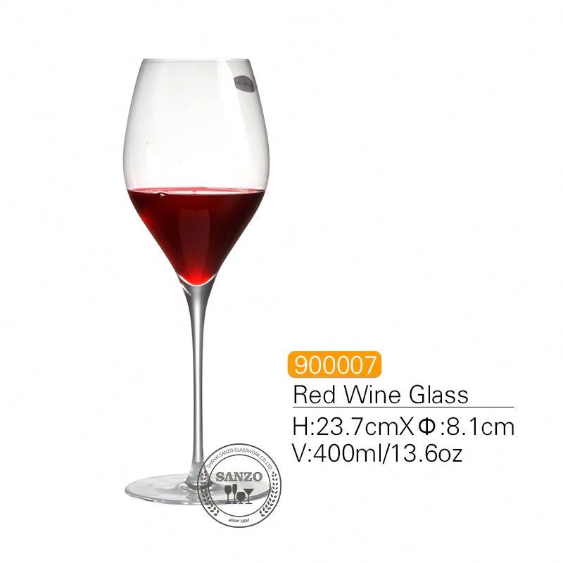 SANZO musta varsi Lismore ilmapallo viinilasi käsintehtyjä lyijyttömiä kristall Kaiverrettuja laseja paksuja laseja