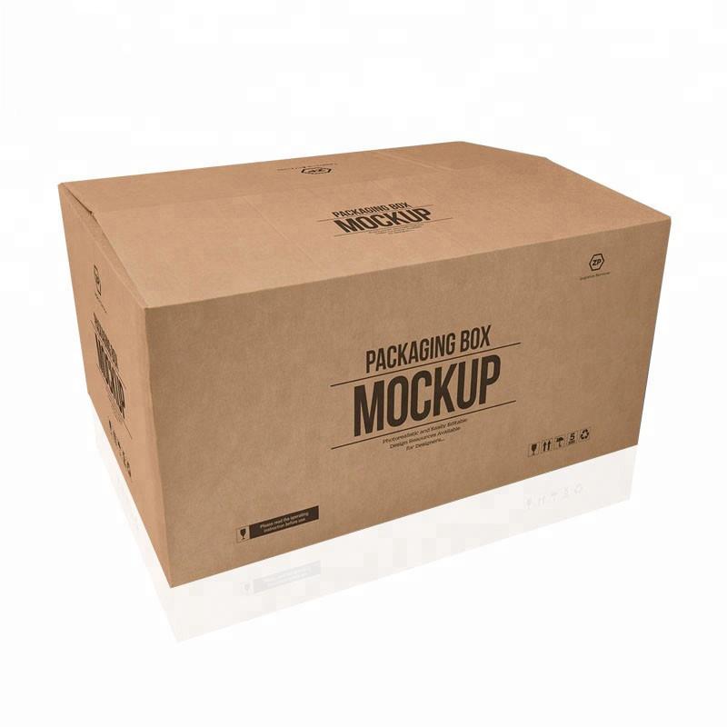 Kuuma myynti mukautetut suuret 5 kerrosta logo tuotemerkin painettu voimapaperi toimitus suuri pahvilaatikko