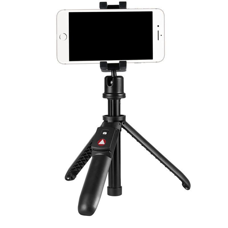 KINGJOY 5-osainen mini-selfie-tikku taitettavalla jalalla vaihtamiseksi jalustaksi bluetooth-ohjauksella