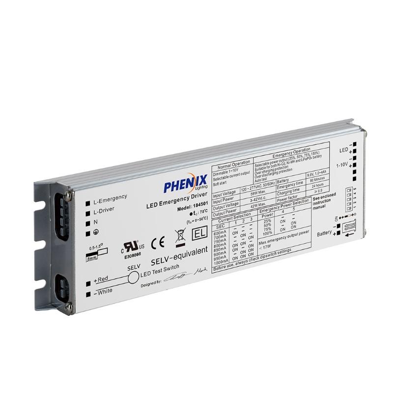 18450X integroitu LED-vaihtovirta + hätäohjain