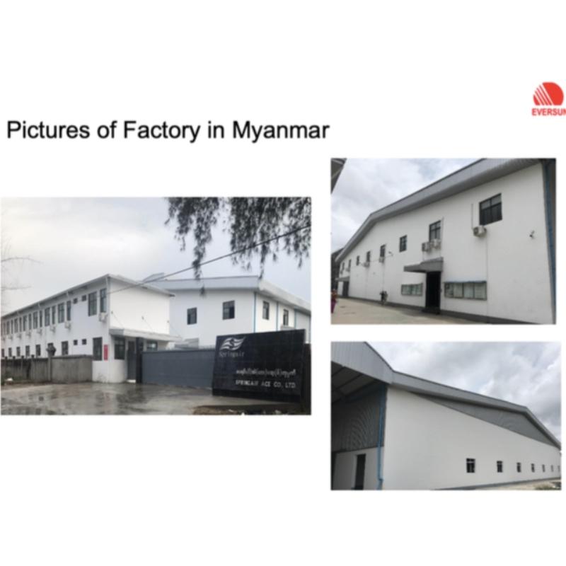Myanmarin tehtaan kokonaan omistama